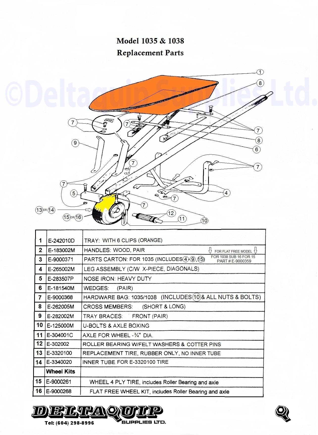 1038 Wheelbarrow Deltaquip Supplies Ltd