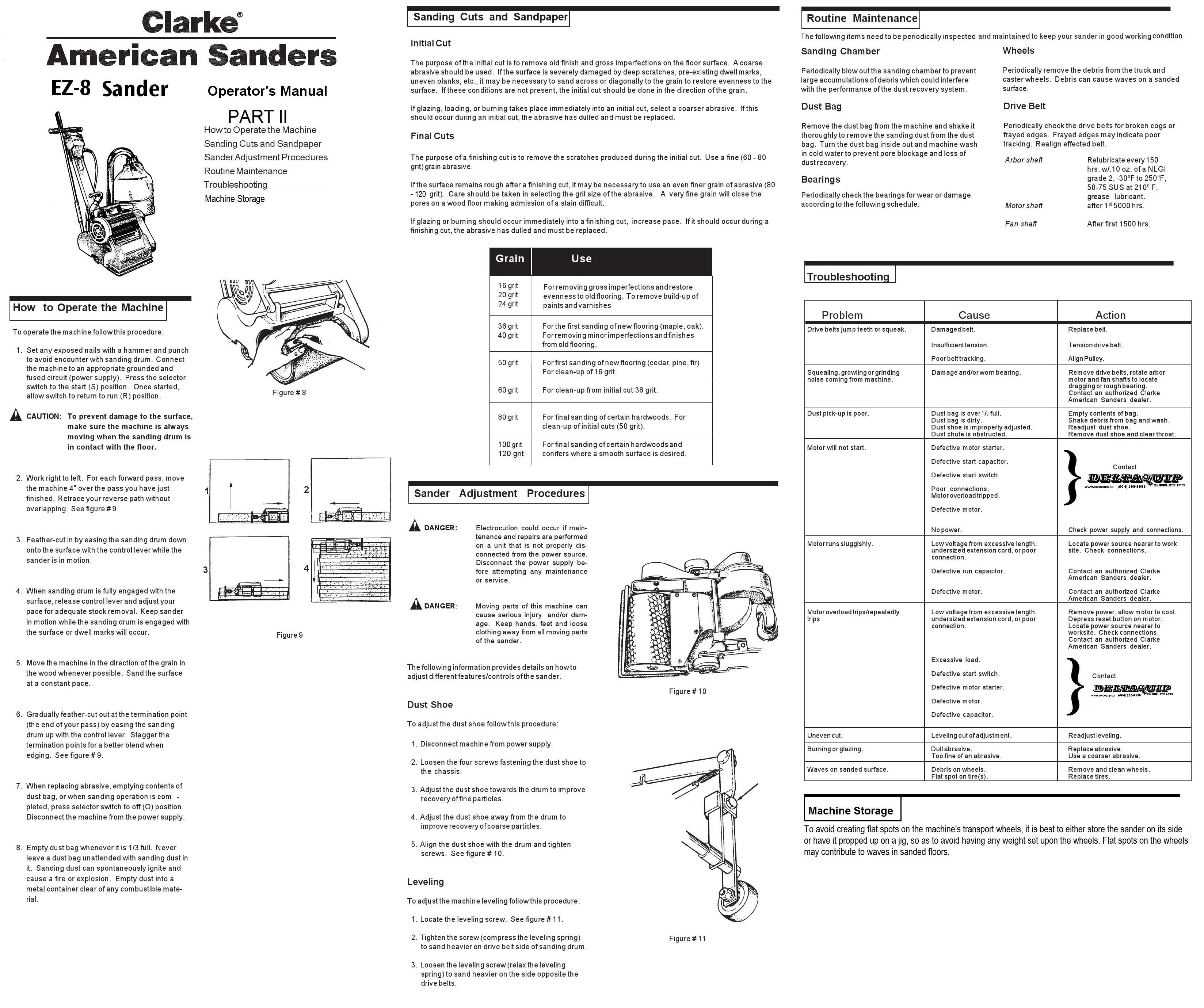 clarke ez 8 drum sander manual
