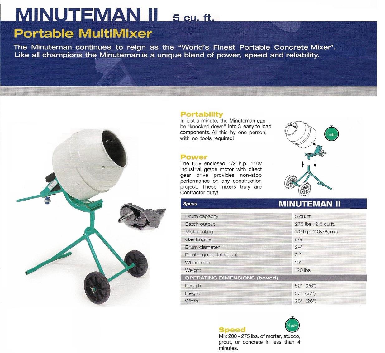 Minuteman II Mixer Deltaquip Supplies Ltd