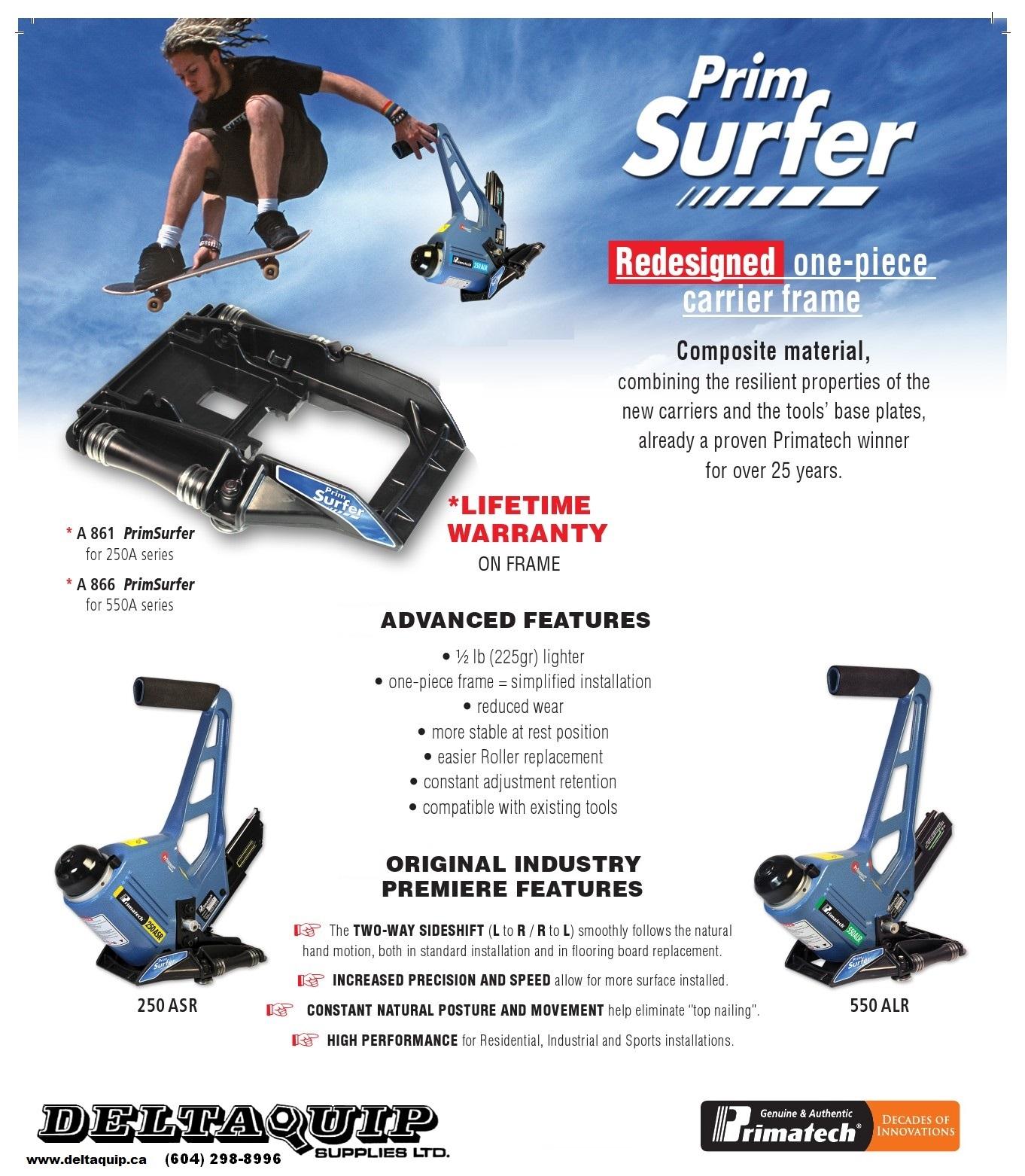 FREE SHIP! PrimSurfer roller base for adjustable floor tools Primatech A861